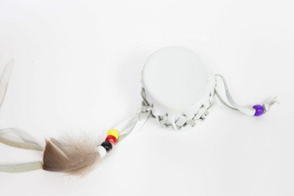 Tambour de rêve en cuir blanc