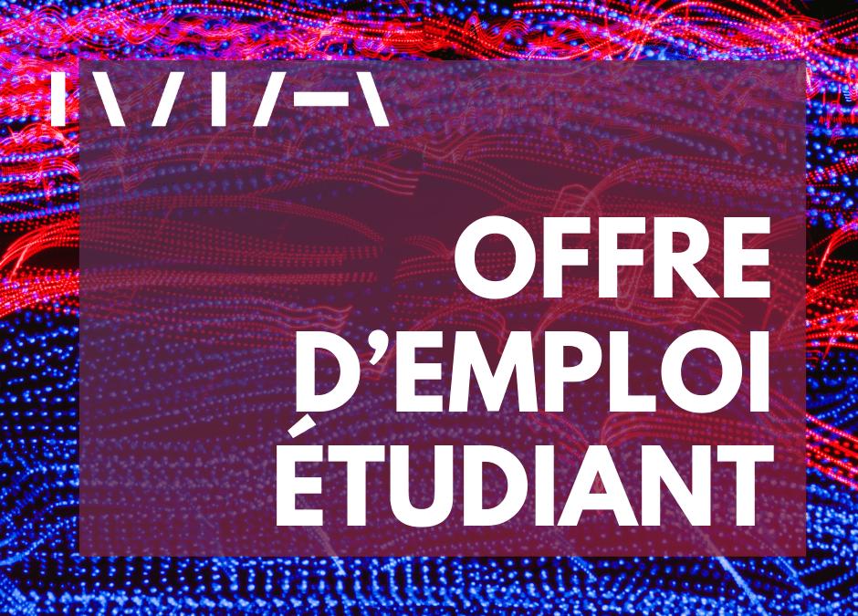 OFFRE D'EMPLOI ÉTUDIANT – Chargé(e) de projet en développement numérique