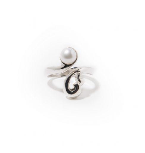 Bague-Liaison-en-argent-sterling-avec-perle-blanche Scaro