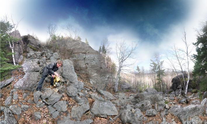 7_Gris comme le rock, 2010,Impression numérique sur alupanel brossé, 37'' x 22''
