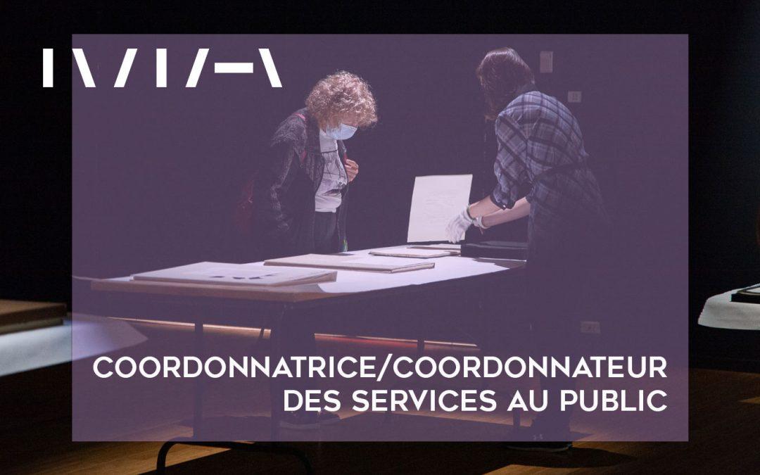 Coordonnatrice/coordonnateur des services au public